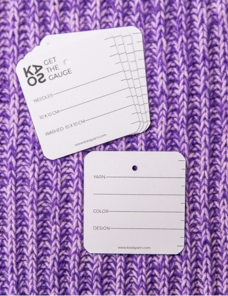 NOTE CARD TO GAUGE SWATCH // 10 PCS